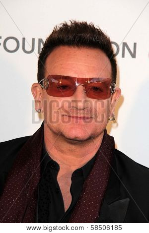 Bono at the Elton John Aids Foundation 21st Academy Awards Viewing Party, West Hollywood Park, West Hollywood, CA 02-24-13