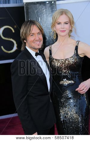 Keith Urban, Nicole Kidman at the 85th Annual Academy Awards Arrivals, Dolby Theater, Hollywood, CA 02-24-13