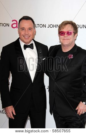 David Furnish, Elton John at the Elton John Aids Foundation 21st Academy Awards Viewing Party, West Hollywood Park, West Hollywood, CA 02-24-13