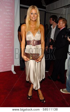 HOLLYWOOD - AUGUST 18: Paris Hilton at the party celebrating the launch of Paris Hilton's Debut CD