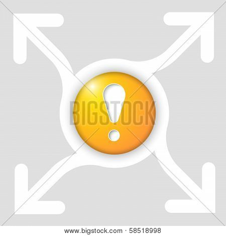Abstract Frame With Four Arrows And Exclamation Mak