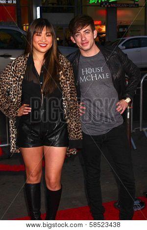 Jenna Ushkowitz, Kevin McHale at the
