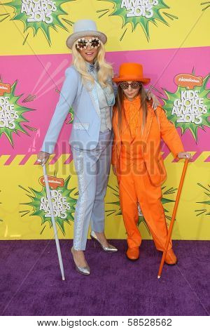 Kesha, Louie Sebert at Nickelodeon's 26th Annual Kids' Choice Awards, USC Galen Center, Los Angeles, CA 03-23-13