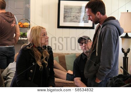 Jennifer Blanc-Biehn, Gary Cairns on the set of