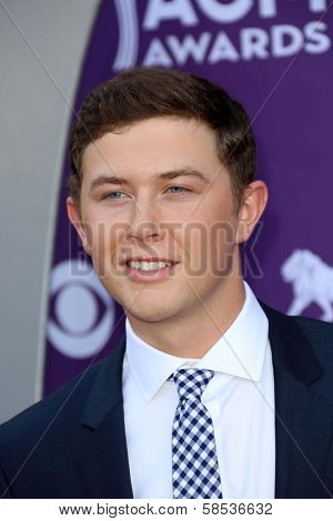 Scotty McCreery at the 48th Annual Academy Of Country Music Awards Arrivals, MGM Grand Garden Arena, Las Vegas, NV 04-07-13