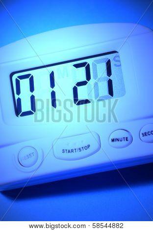 Close up of a modern digital timer. poster