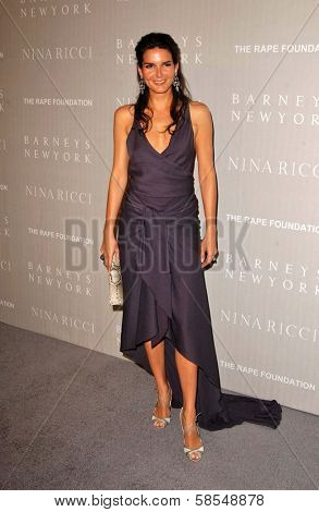 BEVERLY HILLS - APRIL 26: Angie Harmon at the Nina Ricci Fashion Show and Gala Dinner to Benefit The Rape Foundation by Barneys New York at Barneys New York on April 26, 2006 in Beverly Hills, CA.