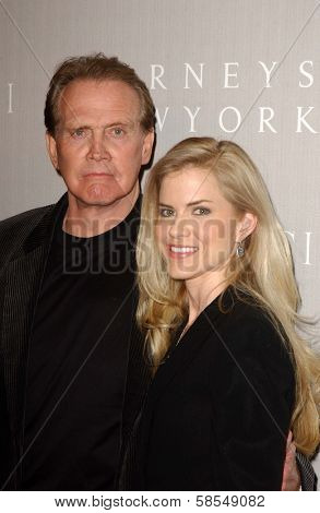 BEVERLY HILLS - APRIL 26: Lee Majors and Faith Majors at the Nina Ricci Fashion Show and Gala Dinner to Benefit The Rape Foundation at Barneys New York on April 26, 2006 in Beverly Hills, CA.