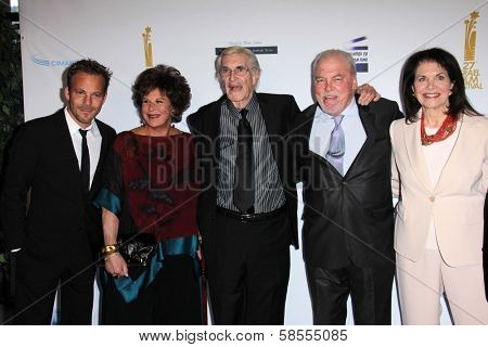 Stephen Dorff, Lainie Kazan, Martin Landau, Stacy Keach, Sherry Lansing at the  27th Israel Film Festival Opening Night Gala, Writers Guild Theater, Beverly Hills, CA 04-18-13