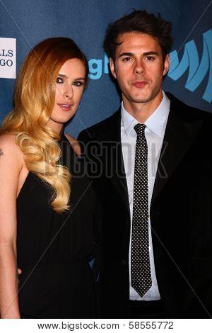 Rumer Willis, Jayson Blair at the 24th Annual GLAAD Media Awards, JW Marriott, Los Angeles, CA 04-20-13