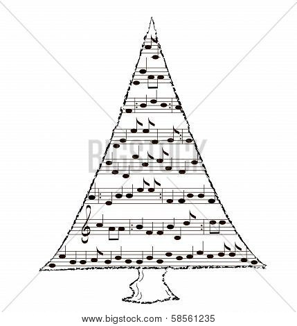 Spruce, music theme - vector