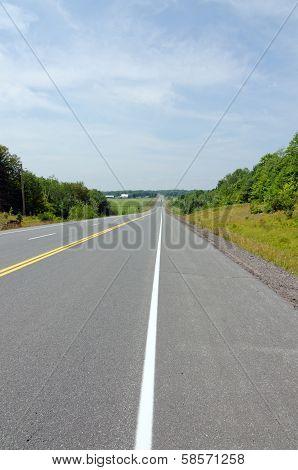 Transcanada Highway Under Blue Sky