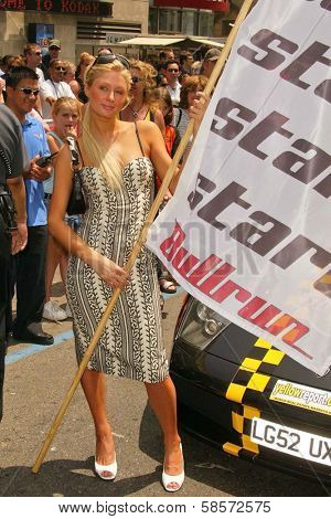Paris Hilton at the Bullrun Rally 2004, Hollywood, CA 06-05-04