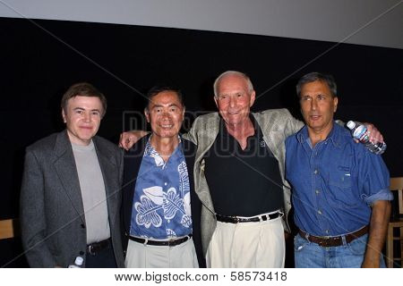 Walter Koenig, George Takei, A.C. Lyles and Nicholas Meyer at a screening of Star Trek II: The Wrath of Khan, American Cinematheque film searies 3rd at the Egyptian Theater, Hollywood CA, 08-08-04