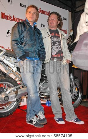 Ewan McGregor and Charley Boorman at the premiere of Long Way Round at Buffalo Club, CA 10-19-04