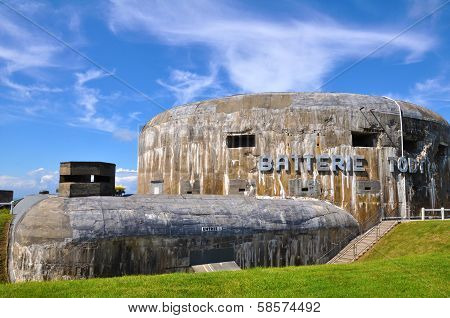 German gun emplacement Batterie Todt in Audinghen, near Cape Gris Nez, Pas de Calais, France.