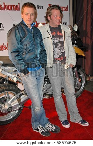 Ewan McGregor and Charley Boorman at the Bullrun Rally 2004 in Hollywood, California. 06-05-04