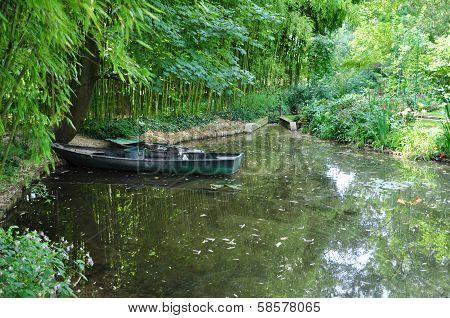 The garden of the famous Painter Claude Monet poster