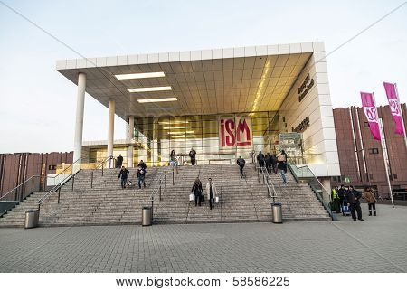 People Leaving The Ism In Cologne