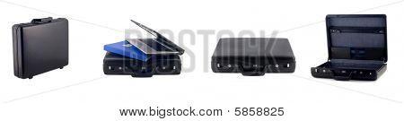 Different Views Of Black Briefcase