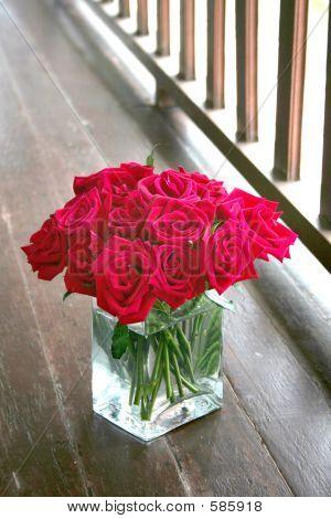 Roses In The Glass Vase