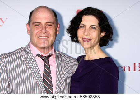 Matthew Weiner and Linda Brettler at the WGA's 101 Best Written Series Announcement, Writers Guild of America Theater, Beverly Hills, CA 06-02-13