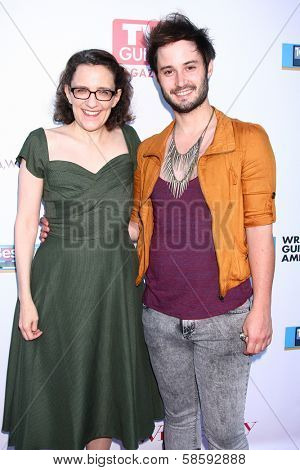 Jane Espenson and Brad Bell at the WGA's 101 Best Written Series Announcement, Writers Guild of America Theater, Beverly Hills, CA 06-02-13