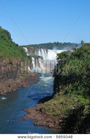 Waterfall in Iguazu