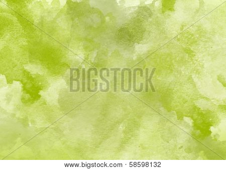 Green Watercolor Background.