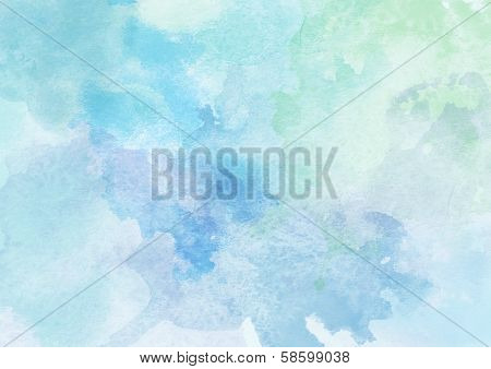 Soft Cold Watercolor Background.