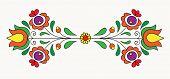 Symmetrical motif inspired by Hungarian folk art. poster