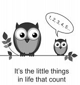 It is the little things in life that count isolated on white background poster