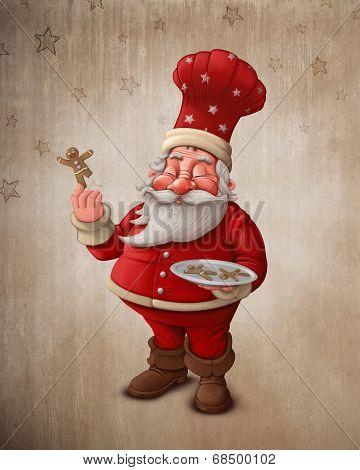 Santa Claus Pastry Cook
