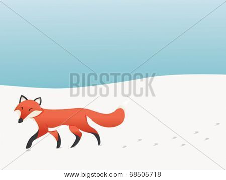 Walking fox