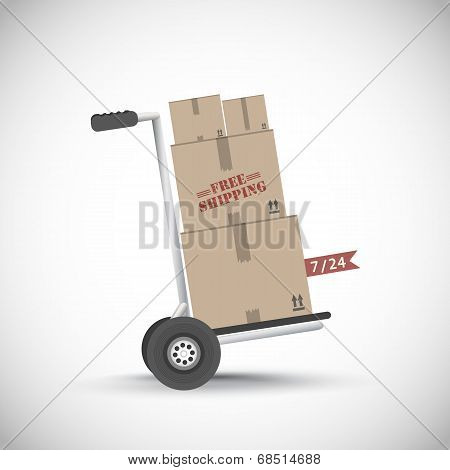 Free shipping hand truck