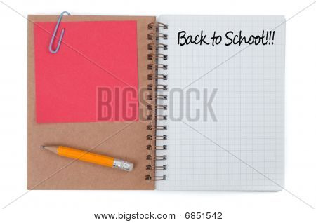 Spiral Notepad And Pencil