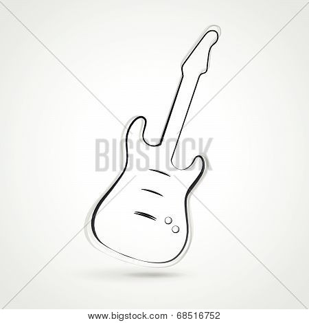 Vector Guitar Illustration