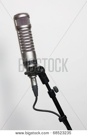 Condenser Microphone On White