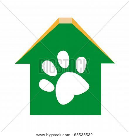 Dog House, clinic or Pet adoption concept