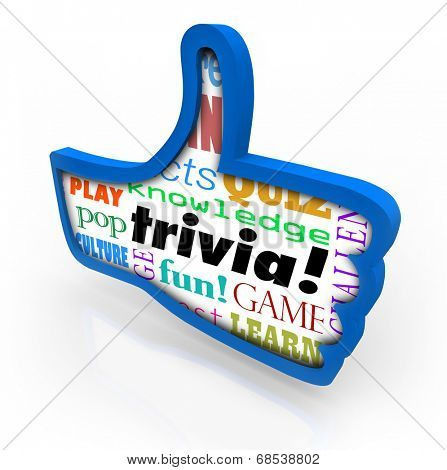 Trivia pop culture word game playing with friends for pop culture knowledge and winning