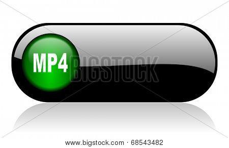 mp4 black glossy banner