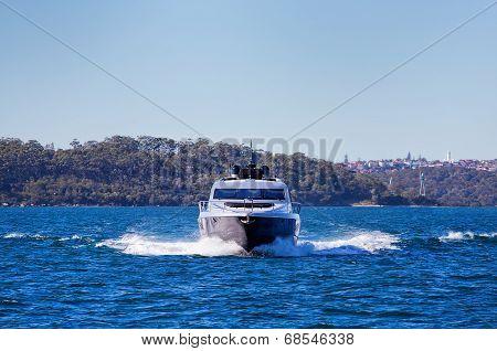 Sailing a luxury yacht