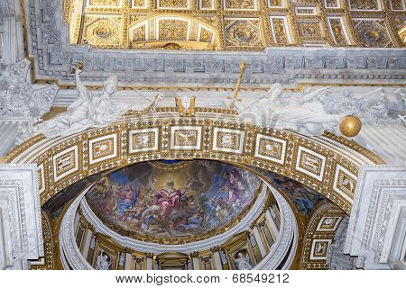 Ancient Frescoes  In Vatican