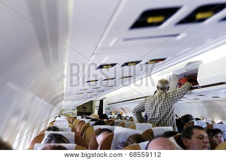 Within A Commercial Airliner