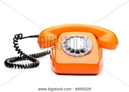 A retro orange phone