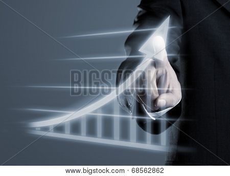 Businessman Drawing Success Graph