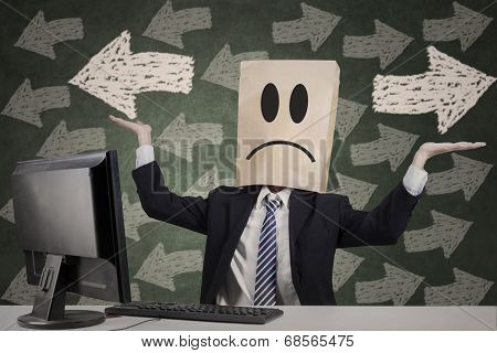 Anonymous Businessman Getting Confused