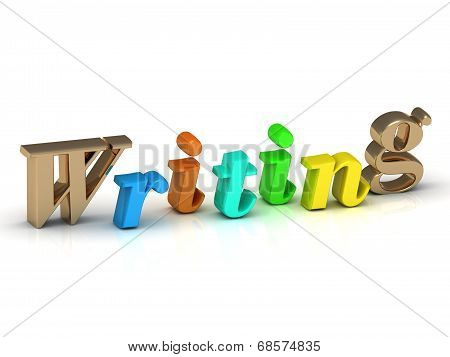 Writing 3D Inscription Bright Volume Letter