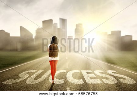 Female Student Looking For Success