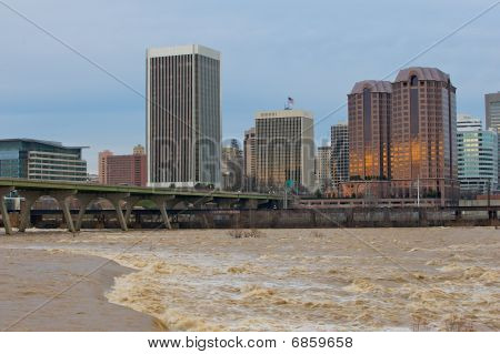 Richmond Virginia from the James River.